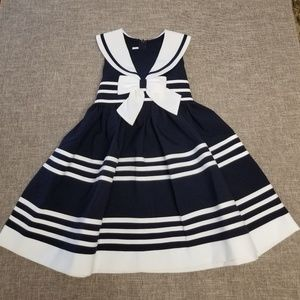 Bonnie Jean girls sailor dress size 5